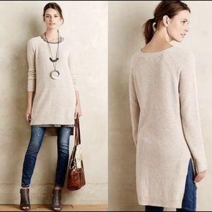 Anthropologie Moth Tan Knew Length Sweater XS